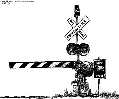 Railroad Crossing Sign Graphic