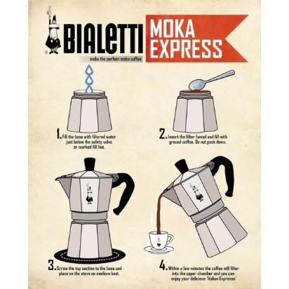 Bialetti - Moka poster historical